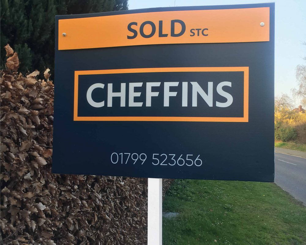An Estate Agent's T Board