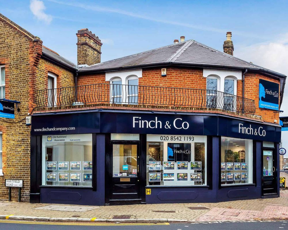 Estate Agent Fascia Complete with projecting signs, wall signs and custom window displays